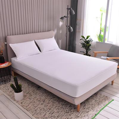 2019新款单层款全包床笠 120X200+10cm 纯白色