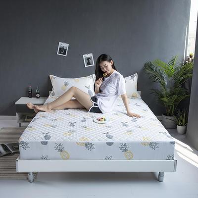 2019新款印花六面全包夹棉床笠 150x200+10cm(现货) 小菠萝