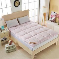 羽丝绒床垫 90*200cm 5CM款  羽丝绒床垫-粉色