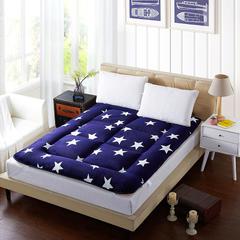 法莱绒床垫 0.9*2.0米 蓝色星空