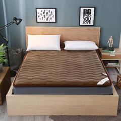 法莱绒硬质棉床垫 0.9*2.0米 法莱绒硬质棉床垫-咖啡色
