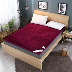 法莱绒硬质棉床垫 0.9*2.0米 法莱绒硬质棉床垫-酒红