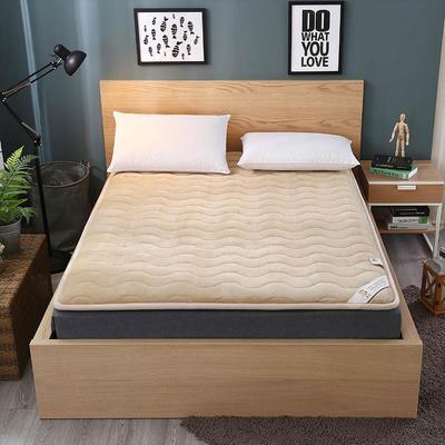 法莱绒硬质棉床垫 0.9*2.0米 法莱绒硬质棉床垫-卡其色
