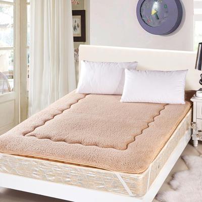 羊羔绒床垫 90*200cm 驼色