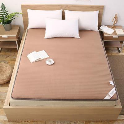 宽边透气棉床垫 0.9*2.0米 驼色