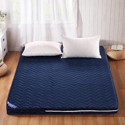 针织棉可拆洗立体床垫 90*200 -波点