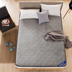 法兰绒压花床垫 0.9*2.0米 法兰绒压花床垫-灰色