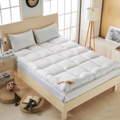 羽丝绒床垫 90*200cm 5CM款  羽丝绒床垫-白色