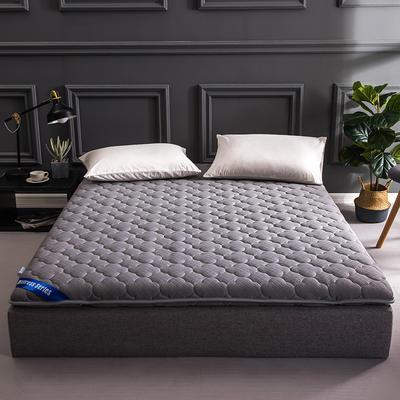 加厚10厘米透气床垫 90*200 针织棉加厚透气床垫-灰色