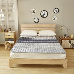 新款-纯色针织棉可拆洗立体床垫 180*220定做 灰色
