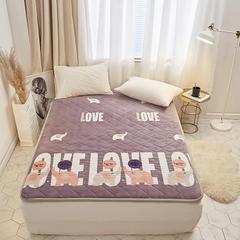 暖心绒床垫 90*200 暖心绒-爱心大象