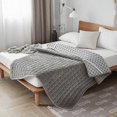 水晶绒纯色防滑床褥 90x200 灰色