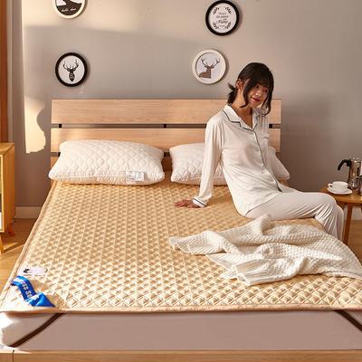 全棉3D透气床褥 0.9*2.0m床 全棉3D透气床褥-驼色