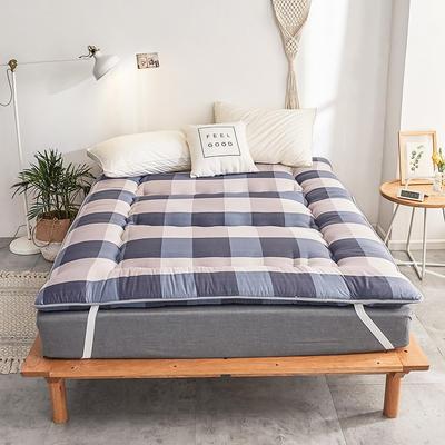 磨毛绗缝床垫 0.9*2.0m 流行色磨毛绗缝床垫-优品