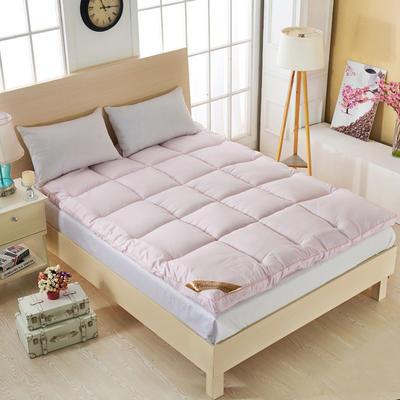 丽诺床垫-羽丝绒纯色床垫5-10厘米 0.9*2.0米 羽丝绒床垫5厘米-粉色