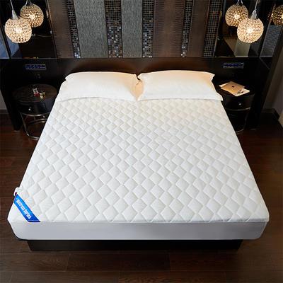 新款-酒店专用纯色床笠-白 120cmx200cm 白色