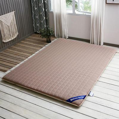 丽诺 新款上新 纯色防滑床垫 90x200cm 驼色