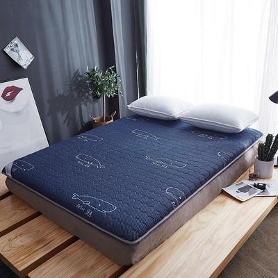 丽诺-10厘米乳胶透气床垫 90x200cm 10厘米-蓝色鲸鱼