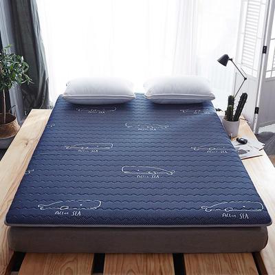 2019上新-6厘米-乳胶透气床垫 90x200cm 蓝色鲸鱼