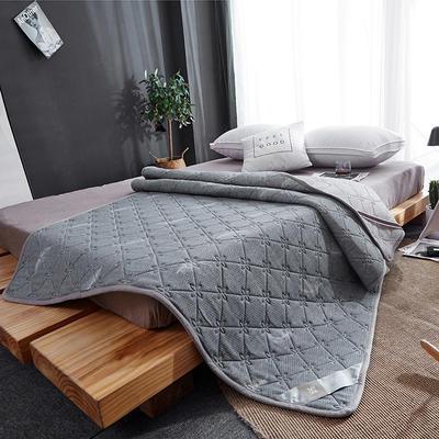 2019新款-乳胶透气床褥 90x200cm 灰色羽毛