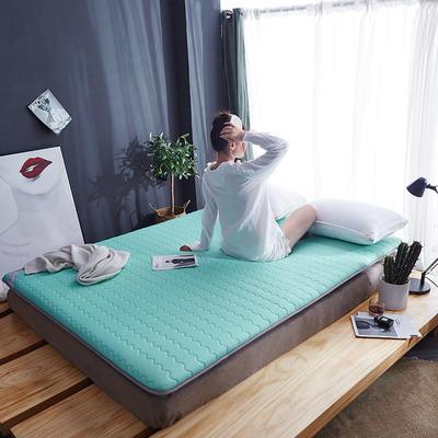 2019新款-乳胶床垫(6cm) 90*200 6厘米-乳胶床垫-水绿色