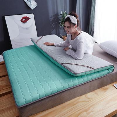 2019新款-乳胶床垫(10cm) 90*200 10厘米乳胶床垫-水绿色