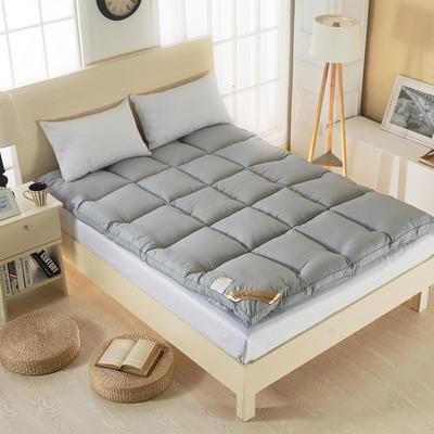 2019新款-羽丝绒纯色床垫5.13(5cm) 90*200 羽丝绒床垫-灰色
