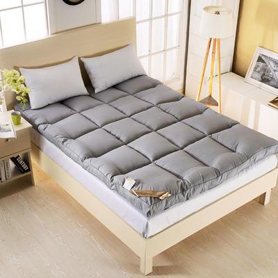 2019新款-羽丝绒纯色床垫5.13(10cm) 90*200 10CM羽丝绒床垫-灰色