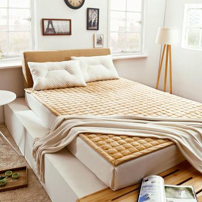 2019新款-法莱绒床褥1.19(1) 0.6*1.2米订做 法莱绒床褥-驼色
