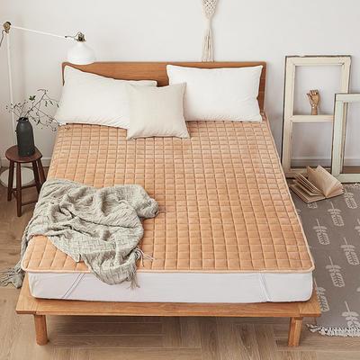 2019新款-水晶绒防滑床褥 90*200 驼色