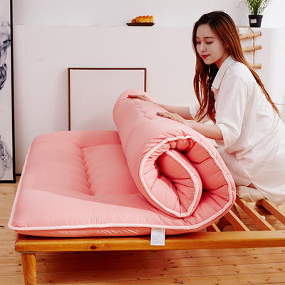 2019新款-素色加厚床垫 90*200 玉色