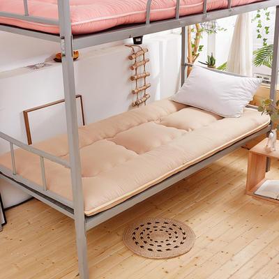 新款-素色加厚学生床垫 90x200cm 素色学生床垫-卡其色