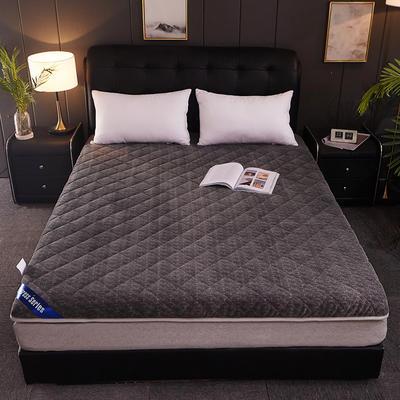 牛奶绒两用床垫 90*200CM 牛奶绒两用床垫-驼色