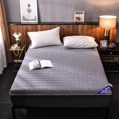 2019新款针织棉床垫 0.9*1.9m 字母灰(6cm)