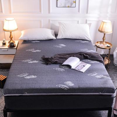 2019新款乳胶硬质棉床垫 0.9*1.9 椰树-灰(单边6cm)
