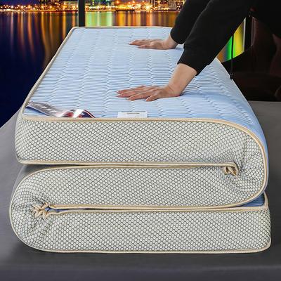 2020新款冰感丝床垫 90*190 冰感丝天蓝(5公分)