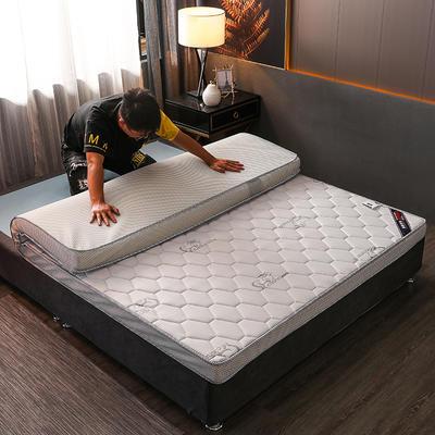 2020新款冰感丝床垫 90*190 针织棉乳胶立体吉羊白(5公分)