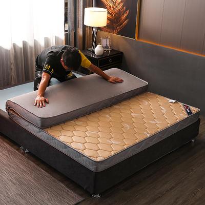 2020新款乳胶硬质棉床垫 0.9*1.9m/6公分 羽毛卡其