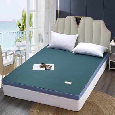 2020新款可拆洗记忆棉床垫 0.9*1.9(约5cm) 孔雀绿
