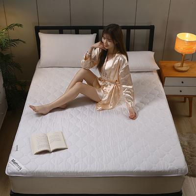 2020新款水洗棉6cm床垫(典雅) 0.9m 典雅-浅白