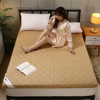 2020新款水洗棉6cm床垫(典雅) 0.9m 典雅-深咖