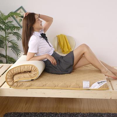 2020新款水洗棉印花90cm床垫 0.9m 典雅-卡其