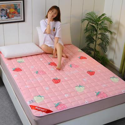 2020新款全棉不塌陷床垫(1.5公分) 0.9*2.0m 草莓-薄款