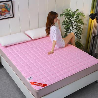 2020新款全棉不塌陷床垫(1.5公分) 0.9*2.0m 玫红色-薄款