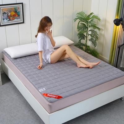 2020新款全棉不塌陷床垫(1.5公分) 0.9*2.0m 绅士灰-薄款