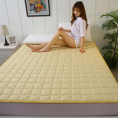 2020新款全棉不塌陷床垫(1.5公分) 0.9*2.0m 香槟金-薄款