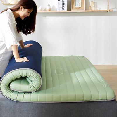 2020新款乳胶记忆棉针织床垫(10公分) 0.9*1.9m 豆蔻绿