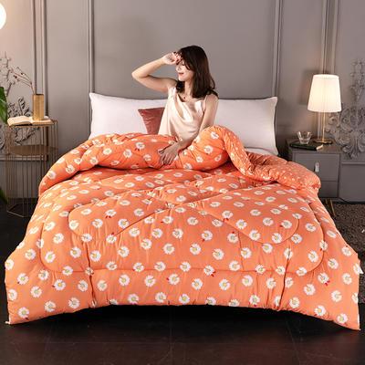 2020新款-暖绒棉冬被 150*200cm 4斤 雏菊橙