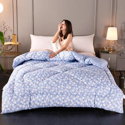 2020新款-暖绒棉冬被 150*200cm 4斤 小碎花蓝