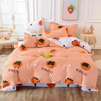 2019新款12868全棉四件套 1.5m床单款四件套 柿柿如意